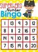 Superhero Letter and Number Bingo
