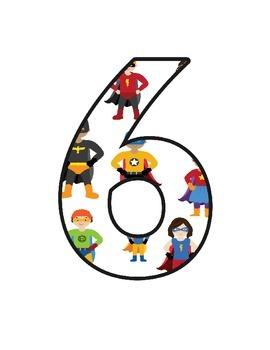 Superhero Lettering (Upper, Lower, Cursive, Numbers and Symbols)
