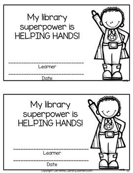 Superhero Library Award Cards