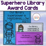 Superhero Library Award Cards