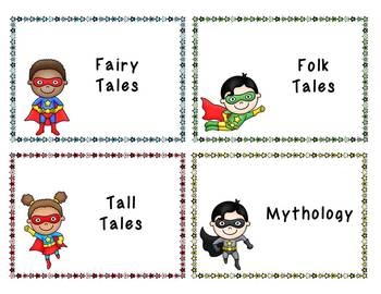 Superhero Classroom Theme- Library Labels for Book Bins