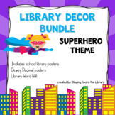 Superhero Library Posters Décor Pack