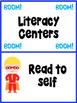 Superhero Literacy Center Cards