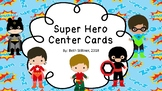Superhero Literacy Center Cards