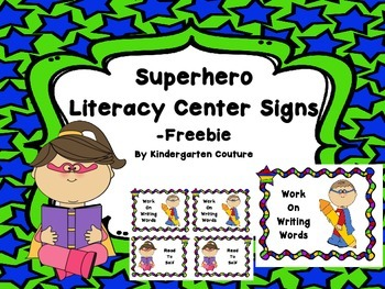 Superhero Literacy Signs -Freebie