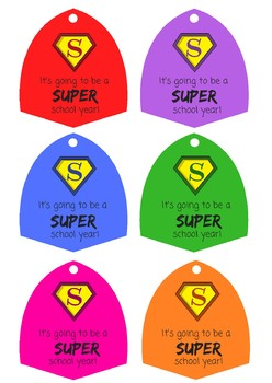 Superhero Lollipop Printable Template - Back to School Gift
