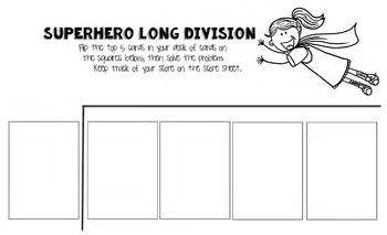 Superhero Long Division (Using Playing Cards)