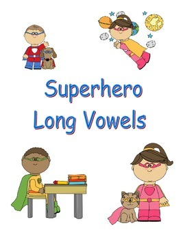 Superhero Long Vowels Game for Kindergarten