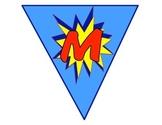 Superhero MATH Rotation Decorative Flags