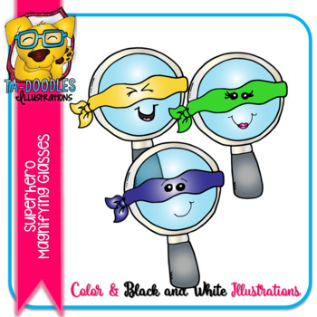 Superhero Magnifying Glasses FREEBIE -  Commercial Use Clipart