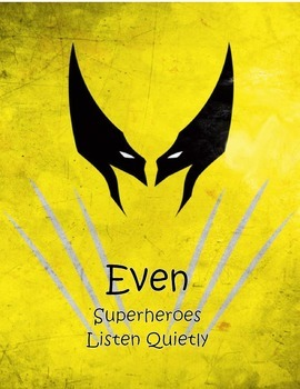 Superhero Manners Posters