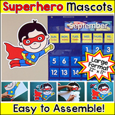 Mascots Cut-Outs - Superhero Theme Classroom Decorations
