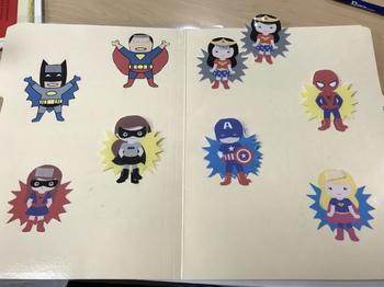 Superhero Match File Folder Game