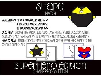 Superhero Matching Activities for Toddlers, Preschool, and PreK