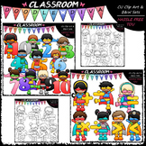 Superhero Math Clip Art & B&W Bundle (2 Sets)