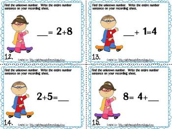 Addition and Subtraction Task Card Math Centers