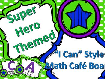 Superhero Math Cafe Board