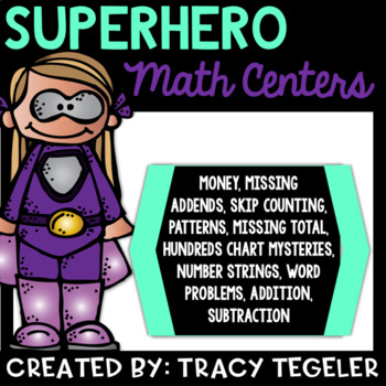 Superhero Math Centers