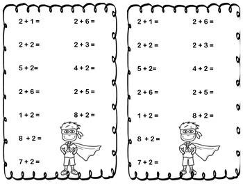 Superhero Math Facts