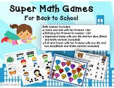 Superhero Math Games for Back to School