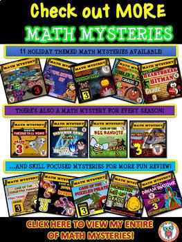 Superhero Free Math Mystery Grades K-6 Differentiated Bundle Math Spiral Review