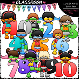Superhero Math Numbers Clip Art - Superhero Math Kids
