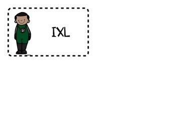 Superhero Math Rotation Tags