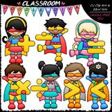 Superhero Math Symbols Clip Art - Math Clip Art