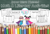 Superhero Math and Literacy Activities!