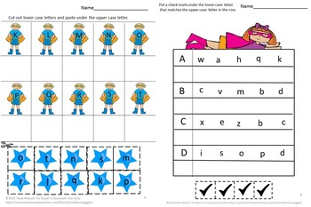 Superhero Cut and Paste Worksheets Preschool, Kindergarten. Special Education