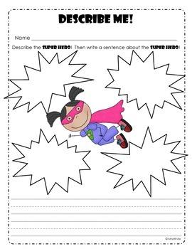 Superhero Math and Literacy Pack