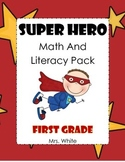 Superhero Math and Literacy Pack