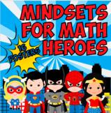 Superhero Math Mindset Posters