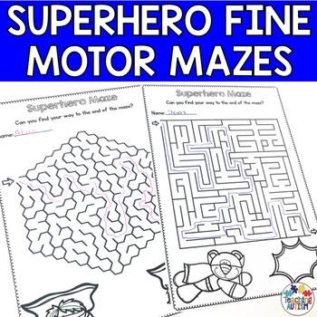 Superhero Maze Activities