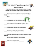 Superhero Meet The Teacher Scavenger Hunt