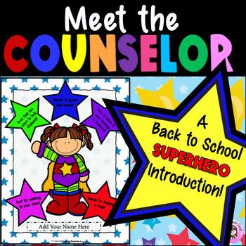 Superhero Meet the School Counselor Introduction Guidance