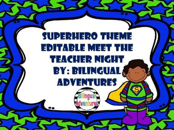 Superhero Meet the Teacher PowerPoint Presentation