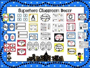 Superhero Mega Classroom Set