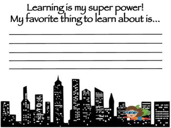 Superhero Memory Book
