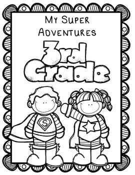 Superhero Memory Book:  Editable Memory Book Kinder thru 5th Grade