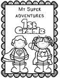 Superhero Memory Book:  Editable Memory Book Kinder thru 5th Grade