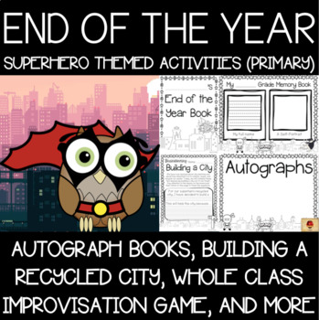 Superhero Memory Books and End of the Year Activities {Primary}