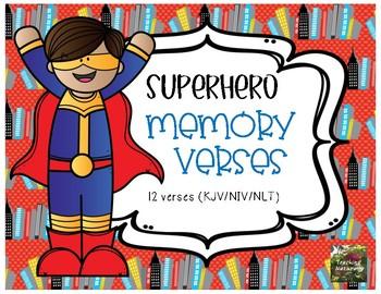 Superhero Bible Verses (memorization, posters)