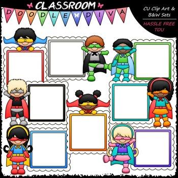 Superhero Message Boards Clip Art - Superhero Kids