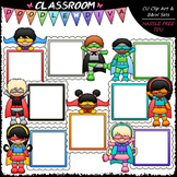 Superhero Message Boards Clip Art - Superhero Kids