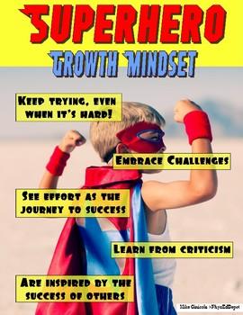 Superhero Minecraft Growth Mindset Poster Series