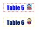 Superhero Minion Table Numbers