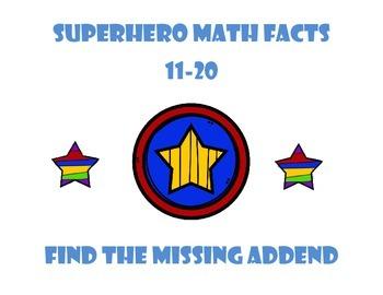 Superhero Missing Addend - Math facts