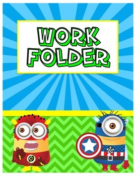 Superhero Monster Work Folder