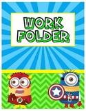 Superhero Monster Work Folder